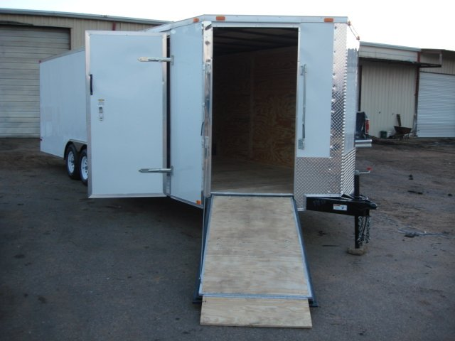 8.5X24 V NOSE RAMP CAR HAULER PACKAGE V NOSE RAMP DOOR