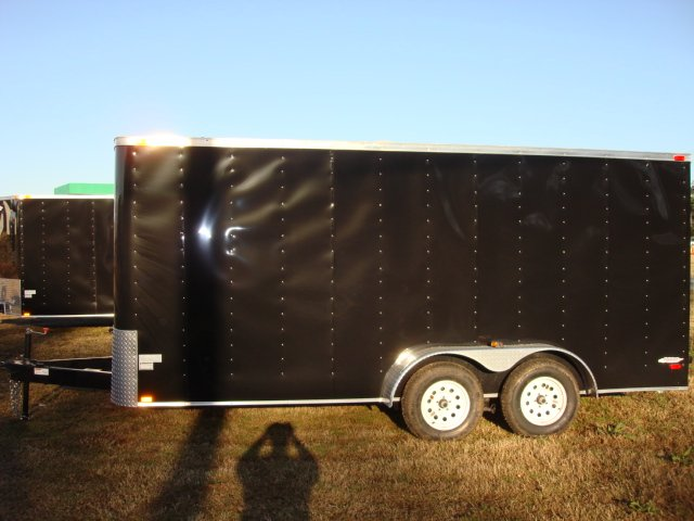 7X16 Kingdom TANDEM AXLE BLACK RAMP ~IN STOCK NOW~CALL~