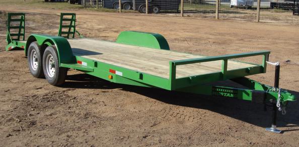 John deere flatbed trailer for car equipment