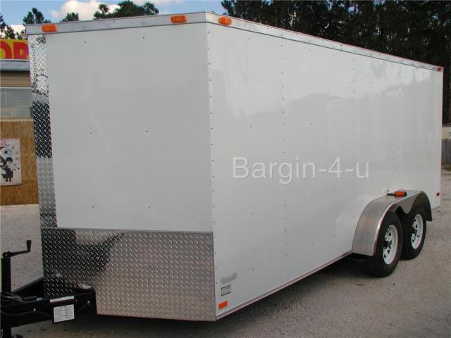 2011 7 x 14 Tandem Axle V-Nose Enclosed Trailer