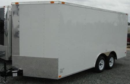 8.5X16 CAR HAULER V NOSE RAMP CARGO TRAILER HD 2010