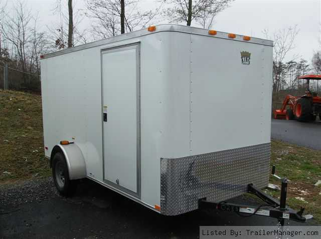 2011 6 x 12 Cargo Trailer, White V-Nose