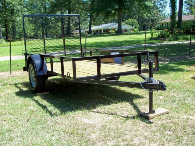 5' x 10' Bumper pull trailer with gate