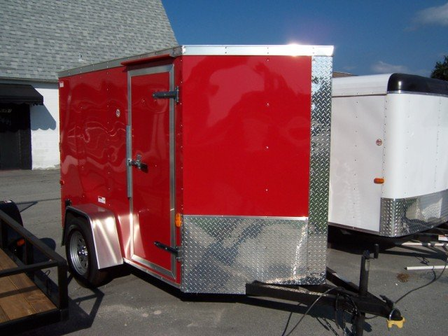 5 x 10 Low Profile Cycle Trailer-Welded Tie Downs