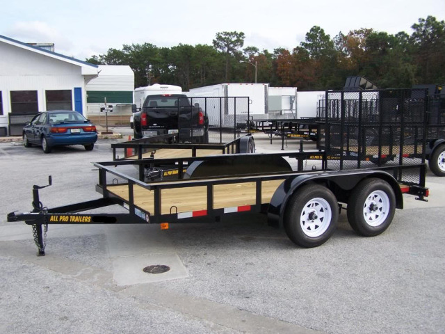 14 ft utility 2 high mesh trailer   fl 32771 usa used