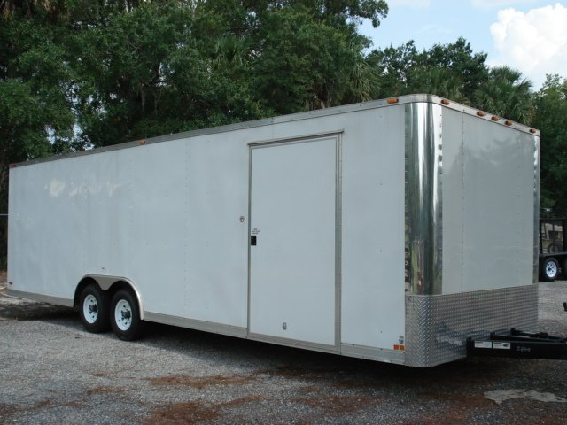 28 FT CARGO TRAILER LOADED W OPTIONS