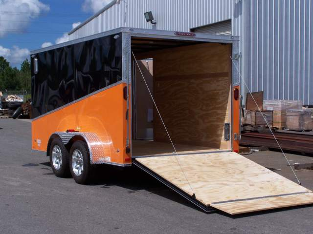 7 X 14 Custom Enclosed Motorcycle Cargo Trailer