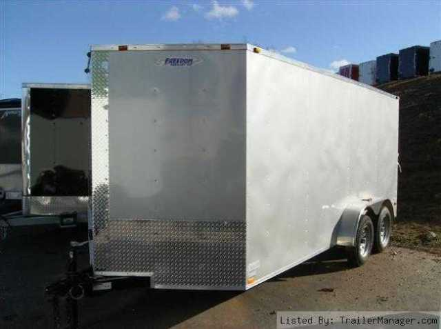 2011 7x16 V-nose Enclosed Trailer