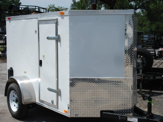 5x8 V Nose Enclosed Trailer for Motorcycle