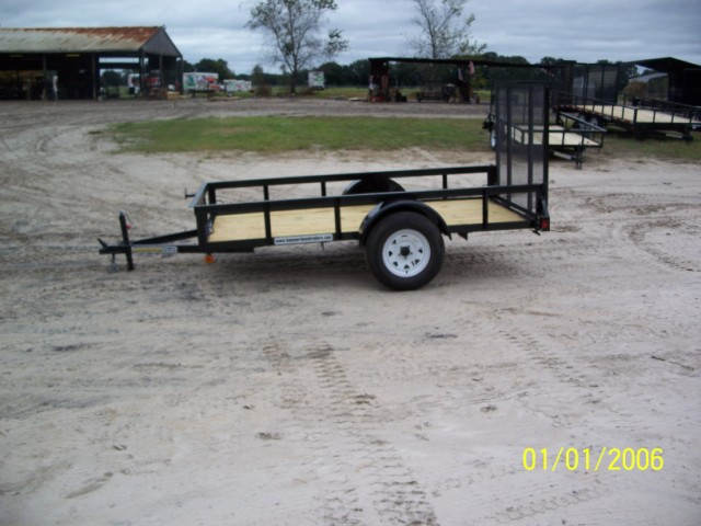 5 x 10 Single Axle Utility Trailer w/ Ramp Gate