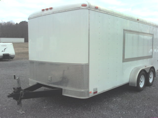 2002 7X16 HOMESTEADER CONCESSION TRAILER