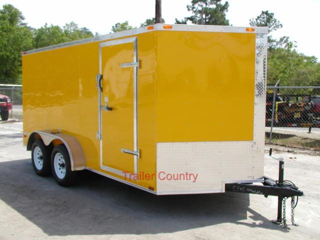 7 x 14 V-Nose Enclosed Cargo Trailer w/Ramp - Color Opt