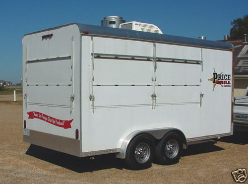 2008 Custom 7.5 x 16 Catering / Concession Trailer