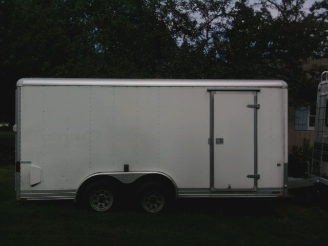 2004 8x16 Wells Cargo Express Wagon Utility Trailer