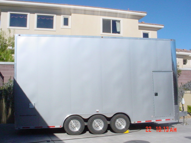 26' alum. stacker trailer