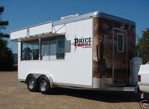 08 Custom 7.5 x 16 Catering / Concession Trailer