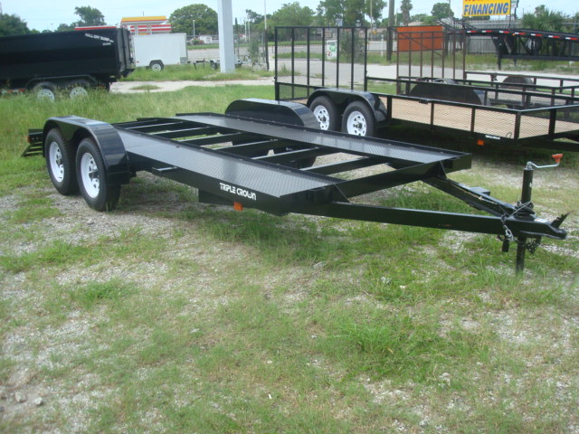 7X16 CAR HAULER WITH DIMOND PLATE RUNNERS
