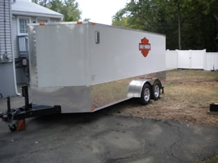 2010 HARLEY DAVIDSON 7 X 18 ENCLOSED TRAILER