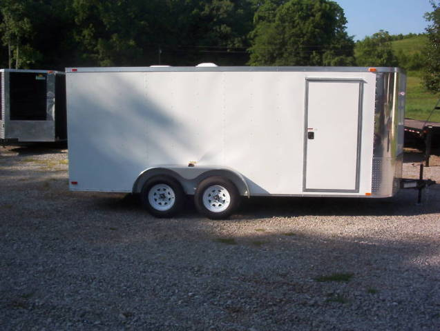 CARGO/MOTORCYCLE ENCLOSED TRAILER W/RAMP
