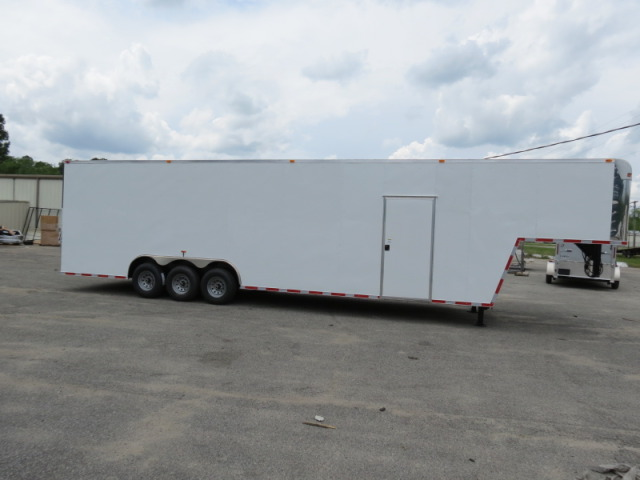 Enclosed Car Hauler Trailer 8.5 x 28 TA V-Nose LED*s