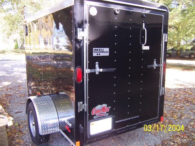 5x8 V-nose motorcycle trailer