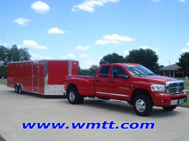 Red 20' Wedge Nose Car Hauler, AUTO TRAILER