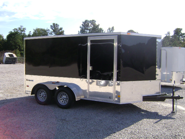 2011 LOOK 7X12 V-NOSE MOTORCYCLE TRAILER