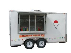 Hawaiian Shave Ice Concession Trailer