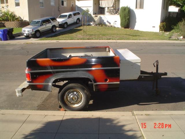 CHEVY PICKUP SHORT-BED TRAILER! 1970s !