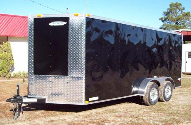 16' Gocart, dirtbike racing trailer, 110volt loaded