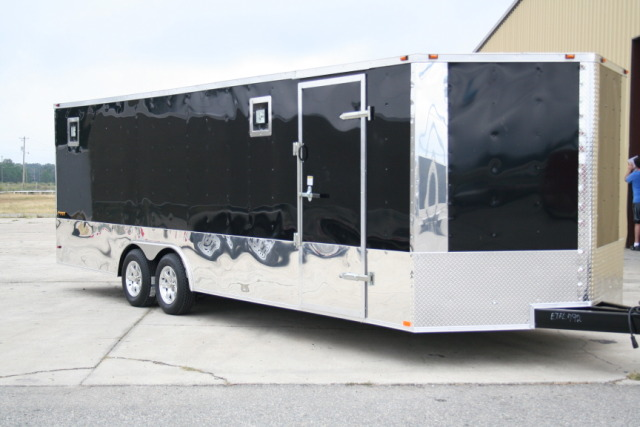 8.5X24 LOADED ENCLOSED TRAILER CAR HAULER RACE READY!
