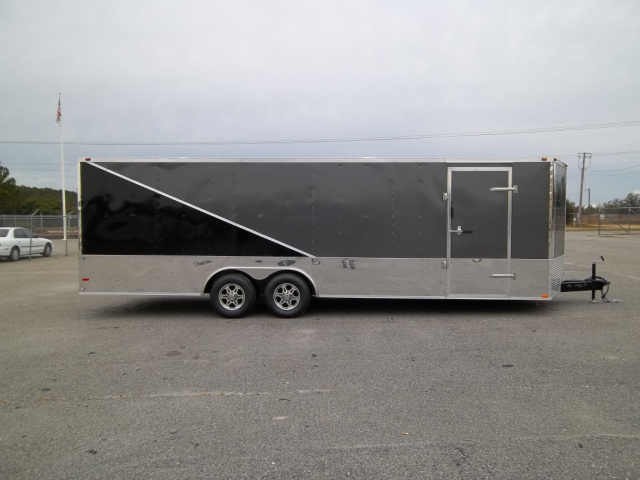 8.5X24 ENCLOSED CAR HAULER TRAILER TWO TONED