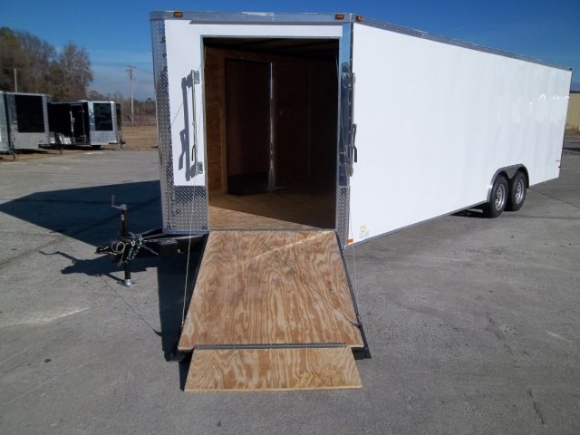 8.5X24 ENCLOSED TRAILER CAR HAULER SNOWMOBILE W/ V-RAMP