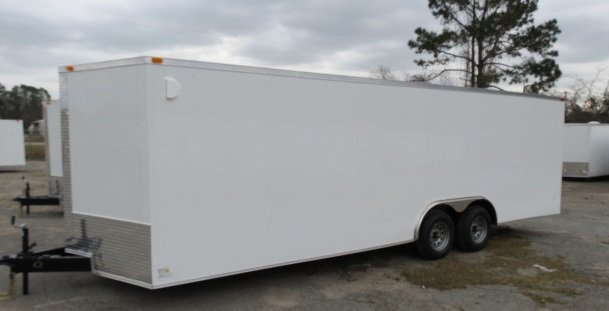 8.5 24Ta Enclosed Car HaulerTrailer V Nose