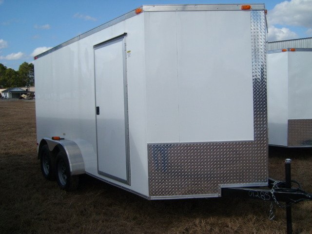 2011 7X12 TANDEM V Nose Enclosed Trailer