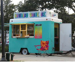 For sale shaved ice trailer