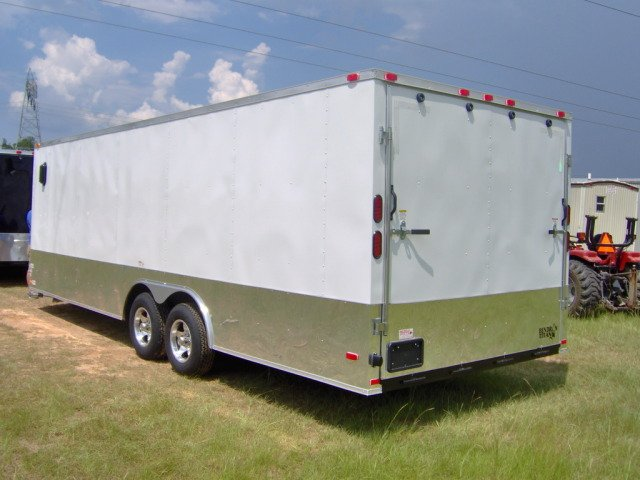 24 enclosed cargo Car hauler trailer Black