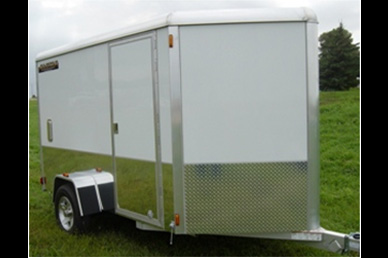 Aluma AE610M motorcycle enclosed cargo trailer