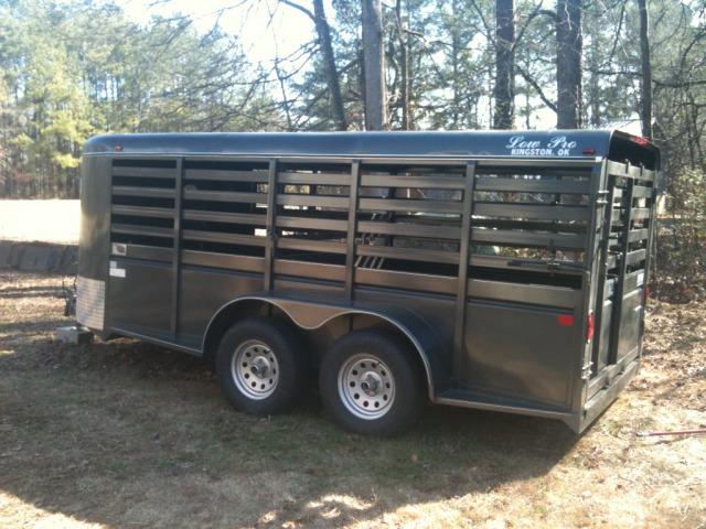 New livestock trailer