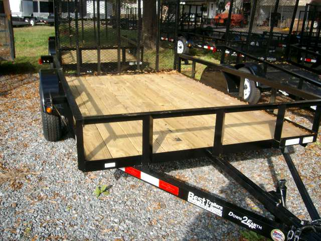 6 x 12 single axle atv lawnmower utility trailer