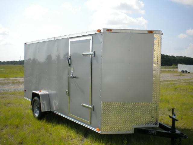 7x14 V-Nose Cargo Trailer