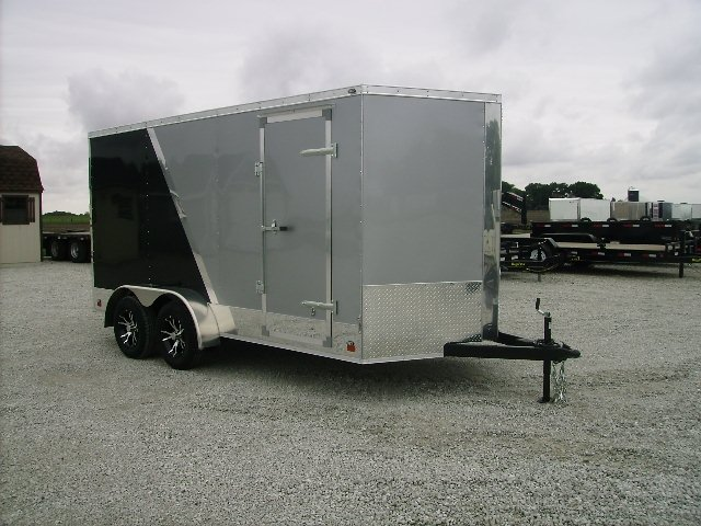 7X14 Cross Enclosed cargo Trailer 2 Tone
