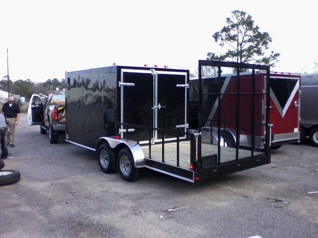 Buy Amp Sell New Amp Used Trailers Black 7x18 Hybrid Cargo
