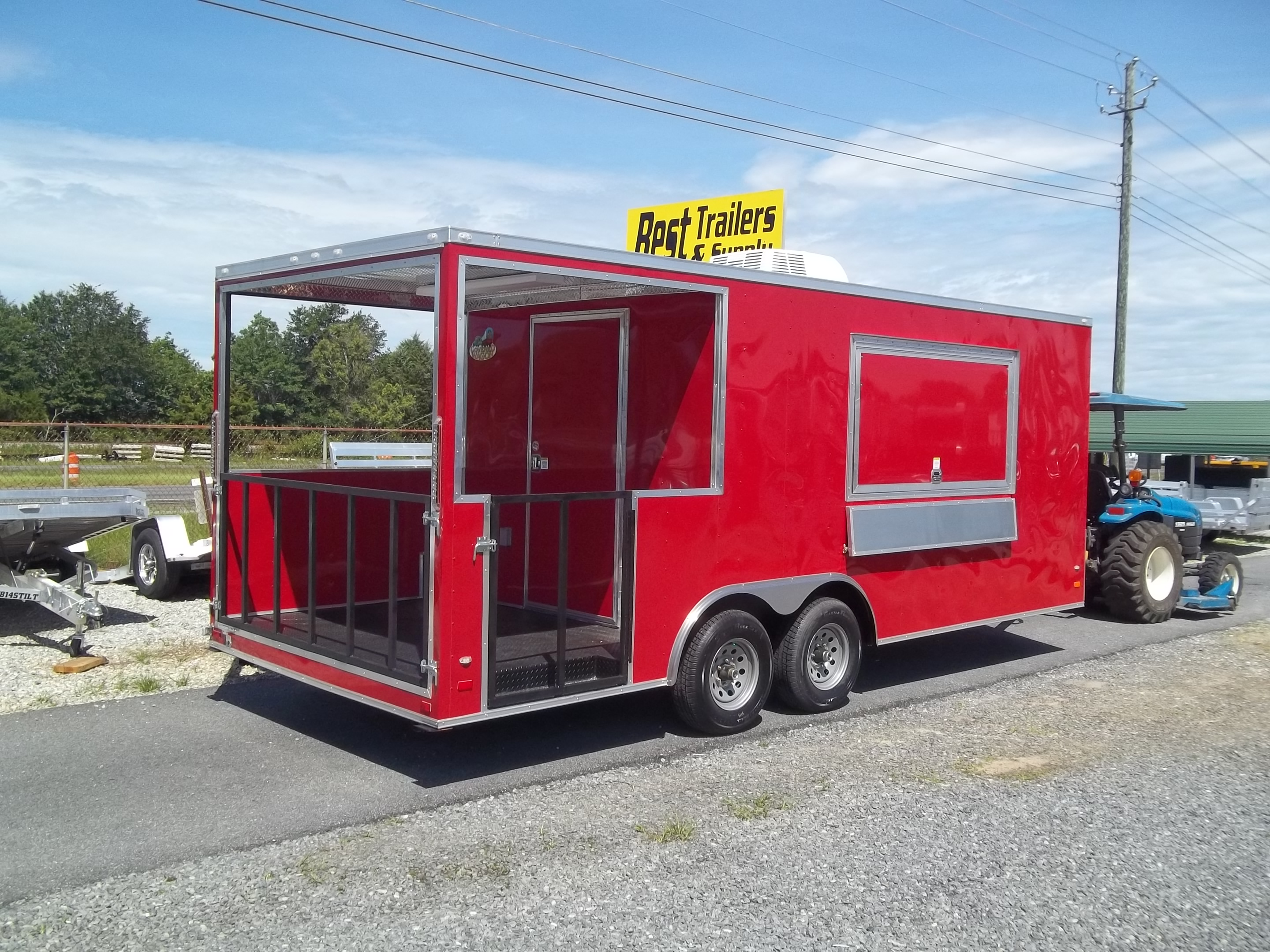 Buy Amp Sell New Amp Used Trailers 8 5x20 Enclosed Bbq Porch