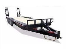 2018 Texas Pride 7x20+4 bumper pull lowboy equipment trailer 27k gvwr