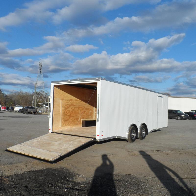 2019 Covered Wagon 8.5x24 wh spread axles ramp door