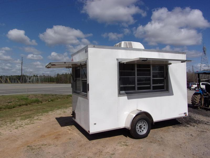 2019 Covered Wagon 6x12 7' interior white