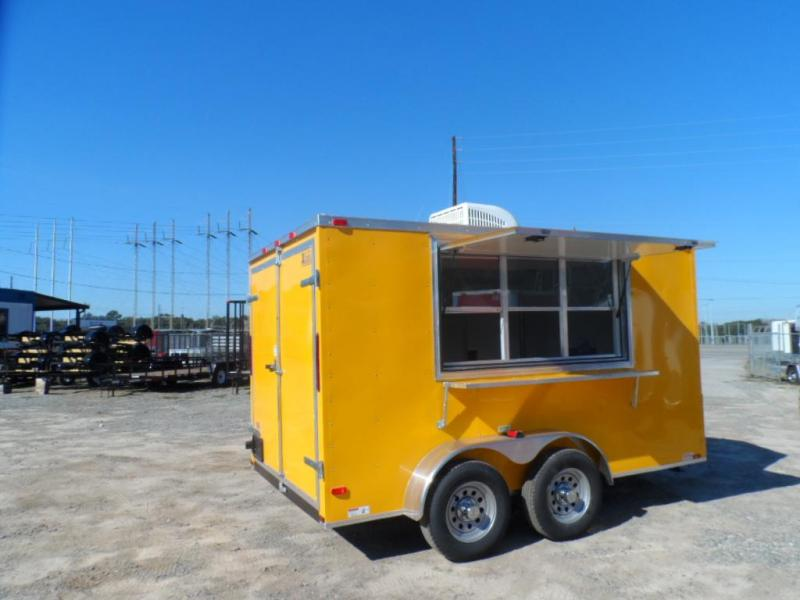 2019 Covered Wagon 7x12 7' interior yelow ta