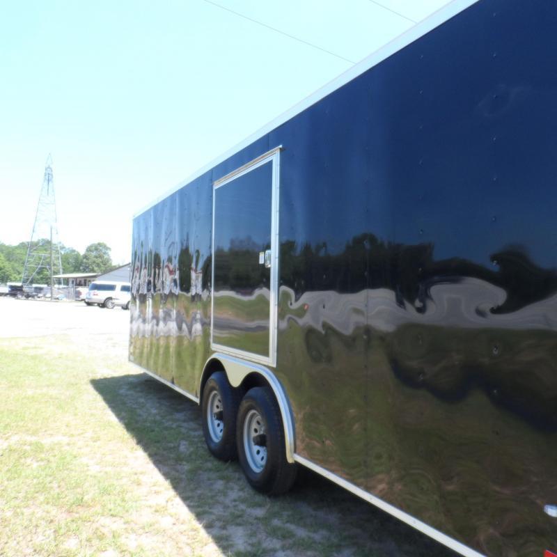 2018 Covered Wagon 8.5x24 black escape door axles ramp door