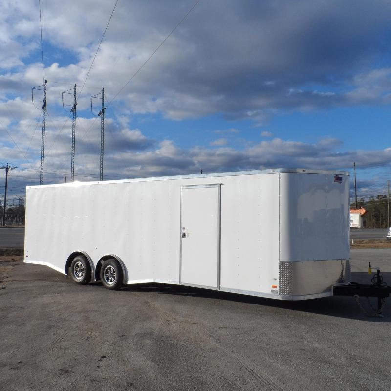2018 Covered Wagon 8.5x24 enclosed trailer- check out the spread axles (call me let's talk)
